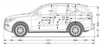 Kofferraummatte Mercedes M-Klasse W166 W 166 ML ab 2012 neues Modell