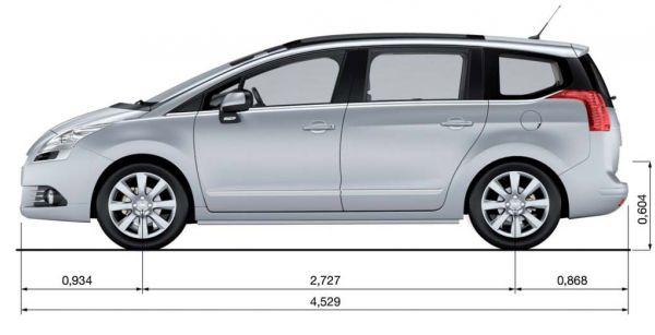 Peugeot Peugeot 5008 Abmessungen Amp Technische Daten