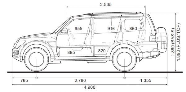 Mitsubishi Pajero 5-Türer - Abmessungen & Technische Daten ...