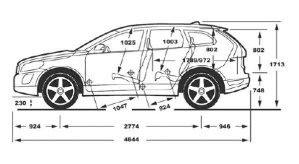 Volvo Xc60 Abmessungen Amp Technische Daten L 228 Nge