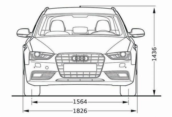 Audi a4 avant b8 abmessungen technische daten for Audi a4 breite mit spiegel