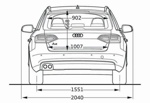 Audi a4 avant b8 abmessungen technische daten for Audi a6 breite mit spiegel