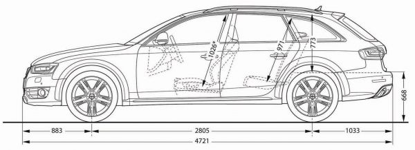 Audi A4 Allroad Quattro Abmessungen Amp Technische Daten