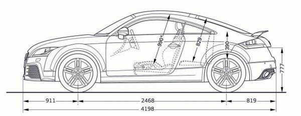 Audi Tt Rs Coupe 8j Abmessungen Amp Technische Daten