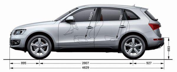 2016 Audi Q5 >> Audi Q5 - Abmessungen & Technische Daten - Länge, Breite ...