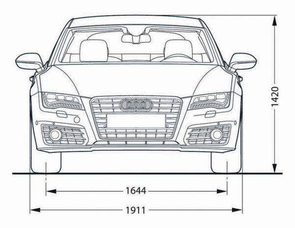Audi A7 Sportback Abmessungen Amp Technische Daten L 228 Nge Breite H 246 He Gep 228 Ckraumvolumen