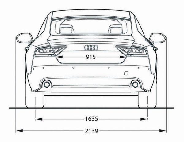 Audi a7 sportback abmessungen technische daten l nge for Audi a6 breite mit spiegel