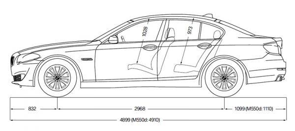 BMW 5er Limousine (F10) - Abmessungen & Technische Daten ...