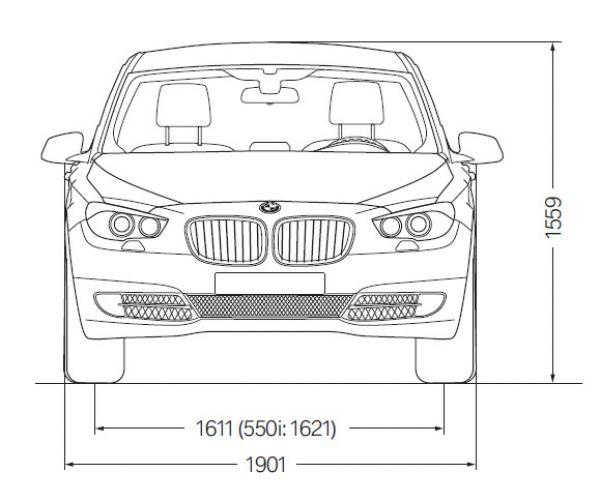 Bmw 5er gt f07 abmessungen technische daten l nge for Breite golf 6 mit spiegel
