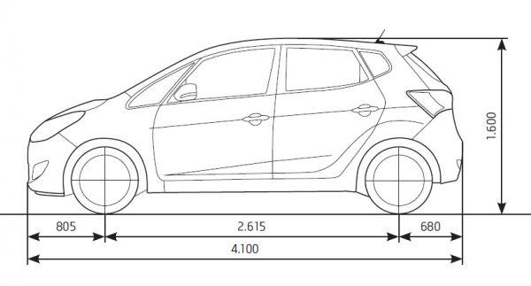 Hyundai ix20 - Abmessungen & Technische Daten - Länge ...
