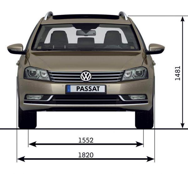 Vw passat variant b7 abmessungen technische daten for Vw polo breite mit spiegel