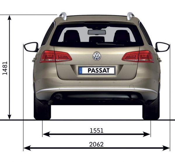 Vw passat vii variant 2010 2014 b7 abmessungen for Vw polo breite mit spiegel