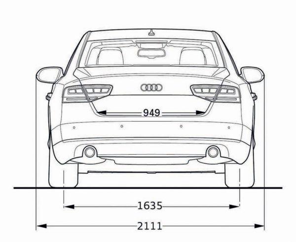 Audi a8 abmessungen technische daten l nge breite for Audi a4 breite mit spiegel