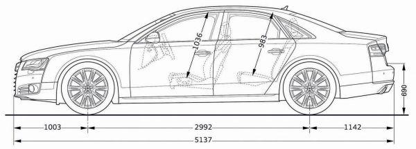 Audi A8 Abmessungen Amp Technische Daten L 228 Nge Breite