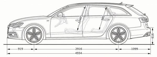 Audi s6 avant abmessungen technische daten l nge for Audi a6 breite mit spiegel