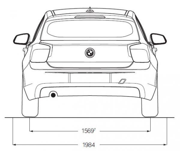 Bmw 1er 5 t rer f20 abmessungen technische daten for Mazda 5 breite mit spiegel