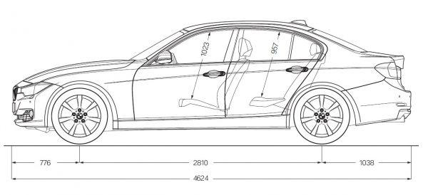 Bmw 3er Limousine F30 Abmessungen Technische Daten Länge