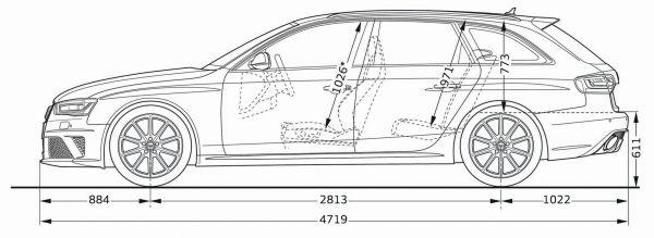 Audi Rs 4 Avant Abmessungen Amp Technische Daten L 228 Nge