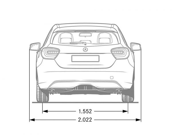 Mercedes-Benz A-Klasse (W176) - Abmessungen & Technische ...