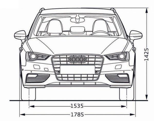 Audi a3 sportback 8v abmessungen technische daten for Audi a6 breite mit spiegel
