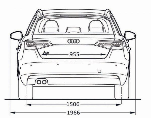 Audi a3 sportback 8v abmessungen technische daten for Breite golf 6 mit spiegel