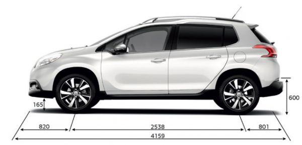 Peugeot Peugeot 2008 Abmessungen Amp Technische Daten
