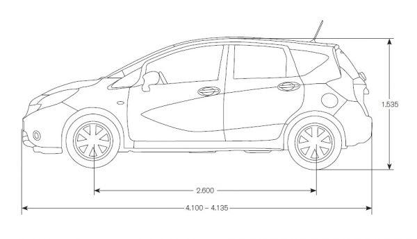 Nissan Note 2013 Abmessungen Amp Technische Daten L 228 Nge