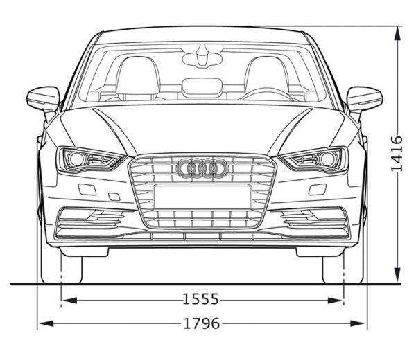 Audi a3 limousine abmessungen technische daten l nge for Audi a6 breite mit spiegel