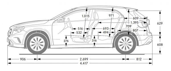 Mercedes Benz Gla X 156 Abmessungen Technische Daten Lange