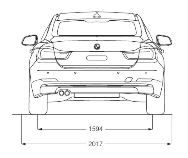Bmw 4er coupe f32 abmessungen technische daten for Breite golf 6 mit spiegel