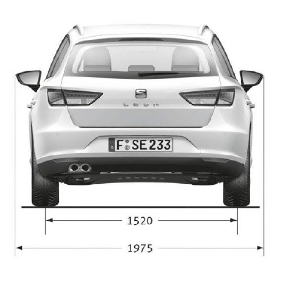 Seat leon st 2014 5f abmessungen technische daten for Breite golf 6 mit spiegel