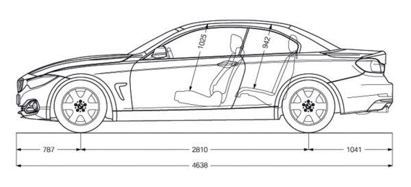 Bmw 4er Cabrio F33 Abmessungen Amp Technische Daten