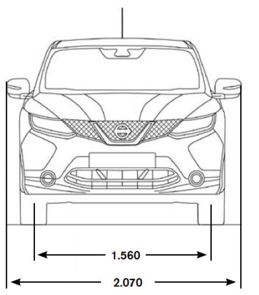 Nissan qashqai abmessungen technische daten l nge for Breite golf 6 mit spiegel