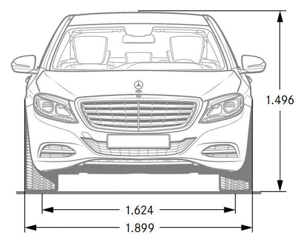 mercedes-benz s-klasse - abmessungen & technische daten - länge