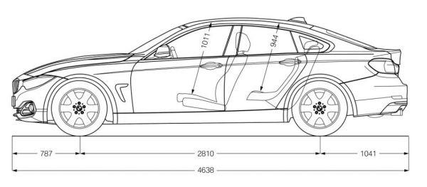 bmw 4er gran coupe (f36) - abmessungen & technische daten - länge