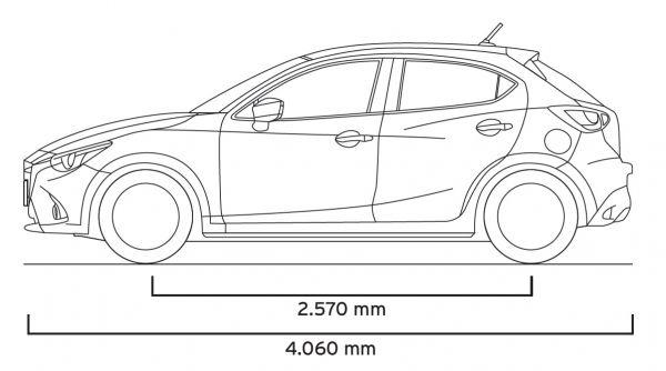 Mazda mazda2 2015 abmessungen technische daten l nge for Mazda 5 breite mit spiegel