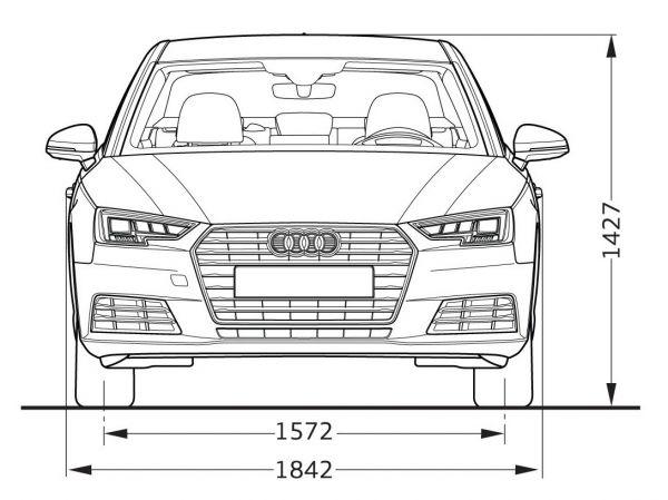 Audi a4 limousine b9 abmessungen technische daten for Audi a4 breite mit spiegel