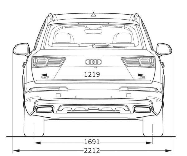 Audi q7 2015 abmessungen technische daten l nge for Audi a4 breite mit spiegel
