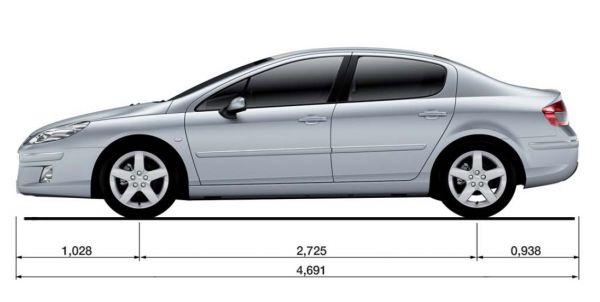 Peugeot Peugeot 407 Abmessungen Amp Technische Daten L 228 Nge Breite H 246 He Gep 228 Ckraumvolumen