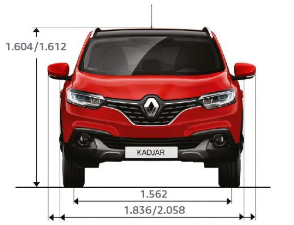 Renault Kadjar Abmessungen Amp Technische Daten L 228 Nge