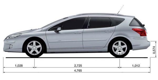 Peugeot Peugeot 407 Sw Abmessungen Amp Technische Daten