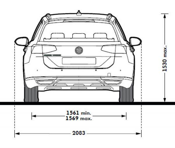 Vw passat viii alltrack b8 abmessungen technische for Audi a6 breite mit spiegel
