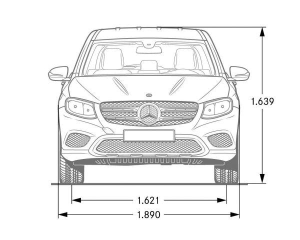 mercedes-benz glc - abmessungen  u0026 technische daten