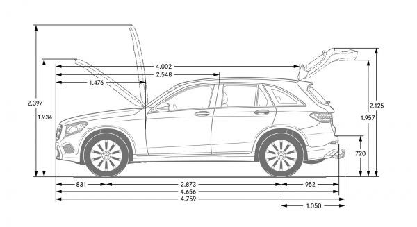 Mercedes Ml Dimensions