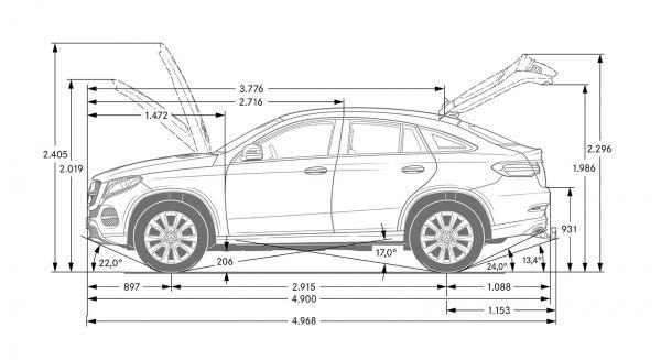 Mercedes Benz Gle Coupe Abmessungen Amp Technische Daten