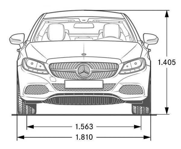 Glc 300 Coupe >> Mercedes-Benz C-Klasse Coupe (C 205) - Abmessungen ...