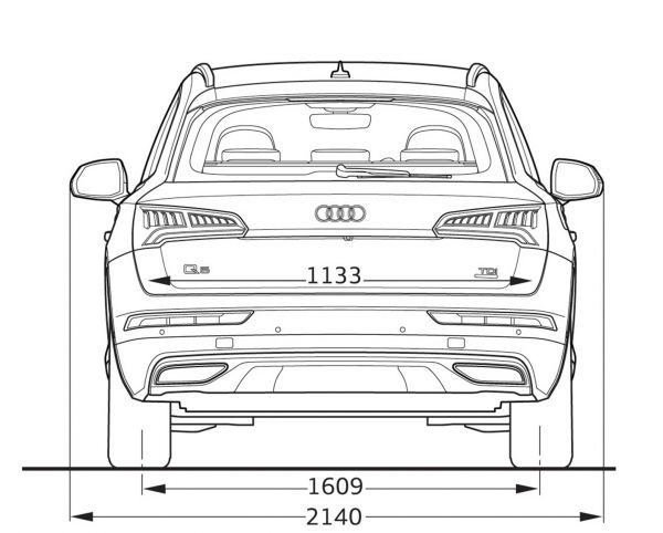 Audi q5 abmessungen technische daten l nge breite for Audi a6 breite mit spiegel