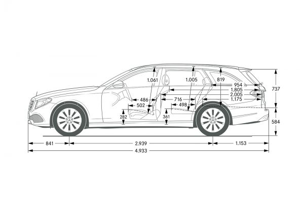 Mercedes Benz E Klasse All Terrain Abmessungen
