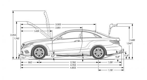 Mercedes Benz E Klasse Coupe C 238 Abmessungen