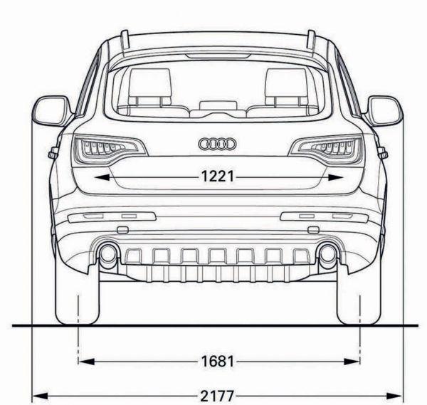 Audi q7 abmessungen technische daten l nge breite for Audi a6 breite mit spiegel
